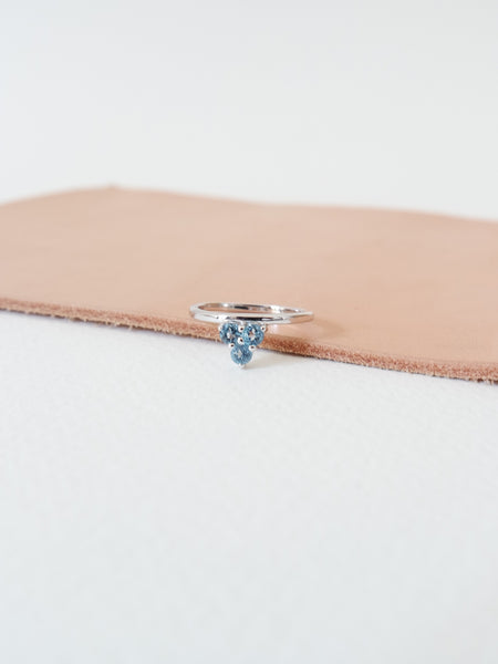 Cassie - Swiss Blue Topaz on Silver