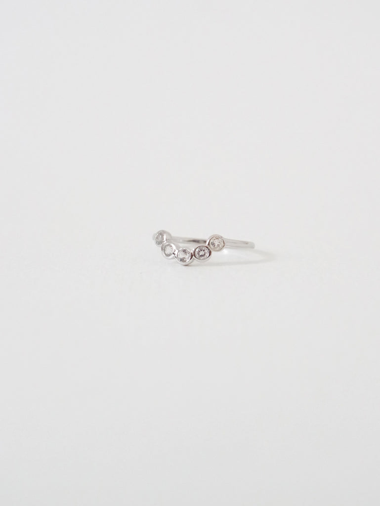 The Curve Ring - White Topaz on Silver