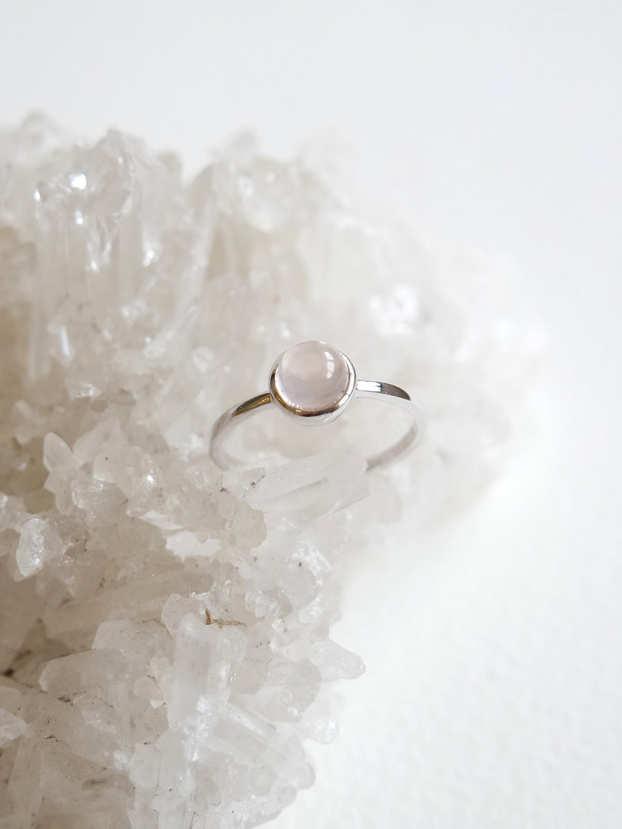 Dana Ring - Rose Quartz (Silver)