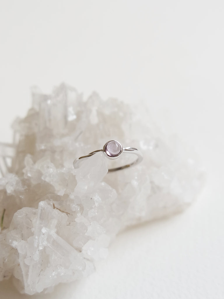 Demi Ring - Amethyst in Silver