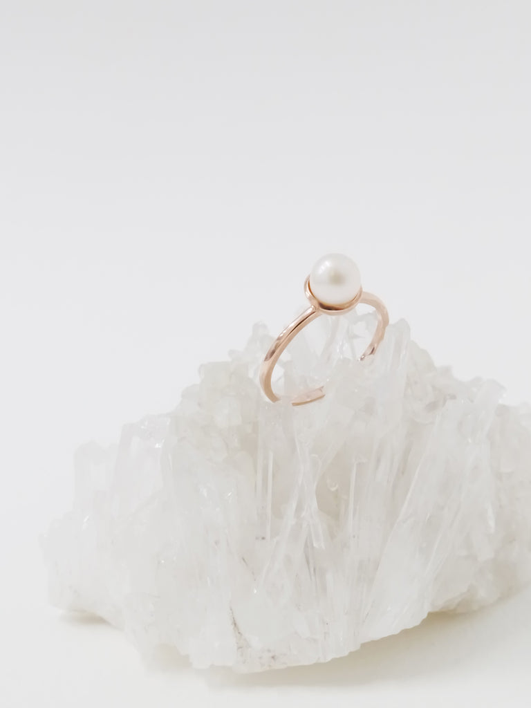 Diane Ring - Freshwater Pearl in Rose Gold