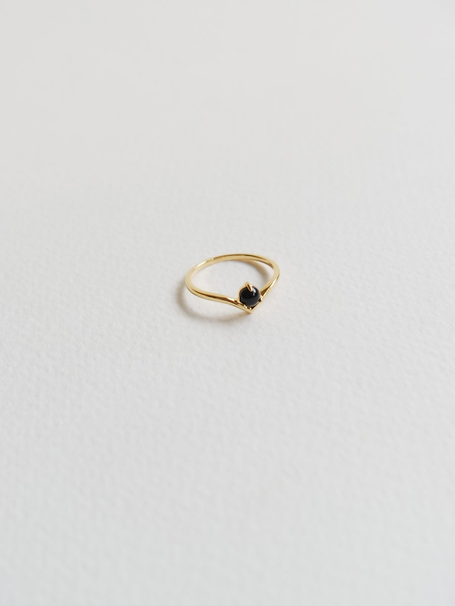 Elsie Ring - Black Onyx (Gold)