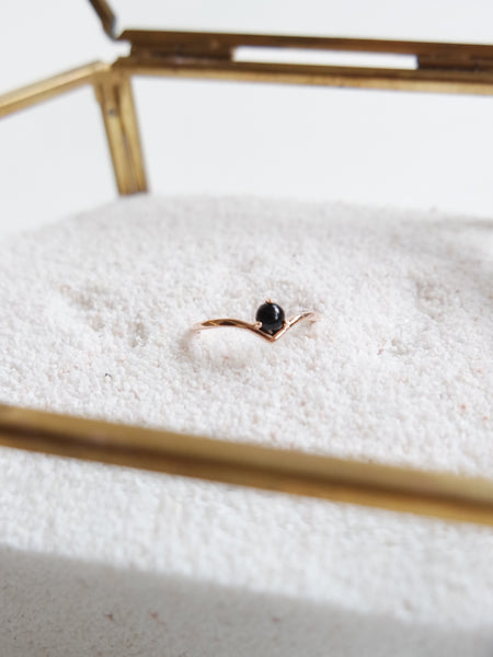 Elsie - Black Onyx in Rose Gold