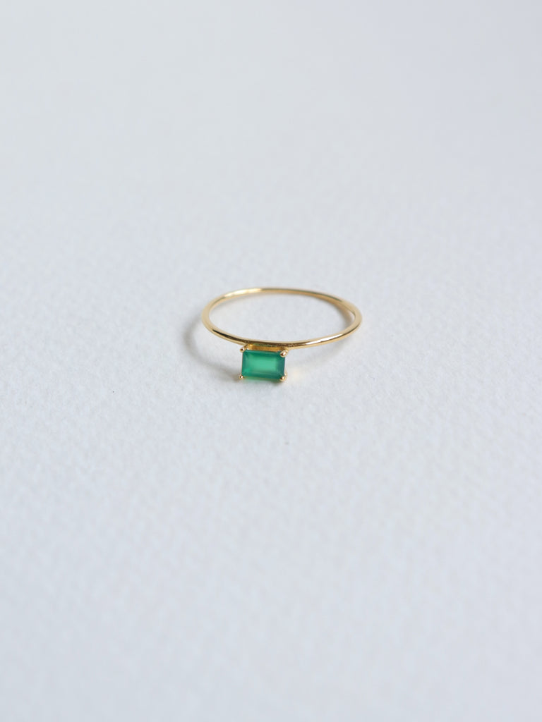 Erin - Green Onyx in Gold