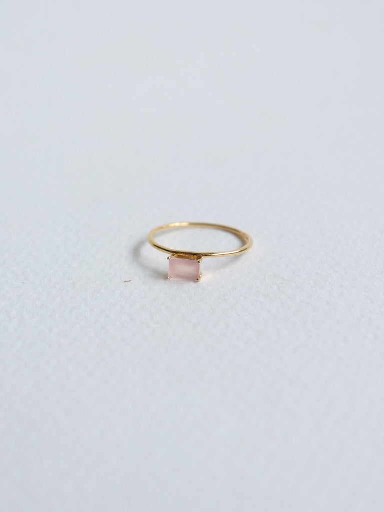 Erin - Pink Chalcedony  in Gold