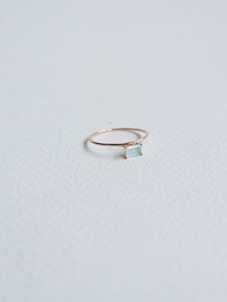 Erin - Aqua Chalcedony  in Rose Gold