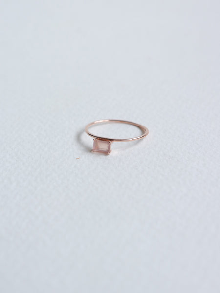 Erin - Pink Chalcedony  in Rose Gold