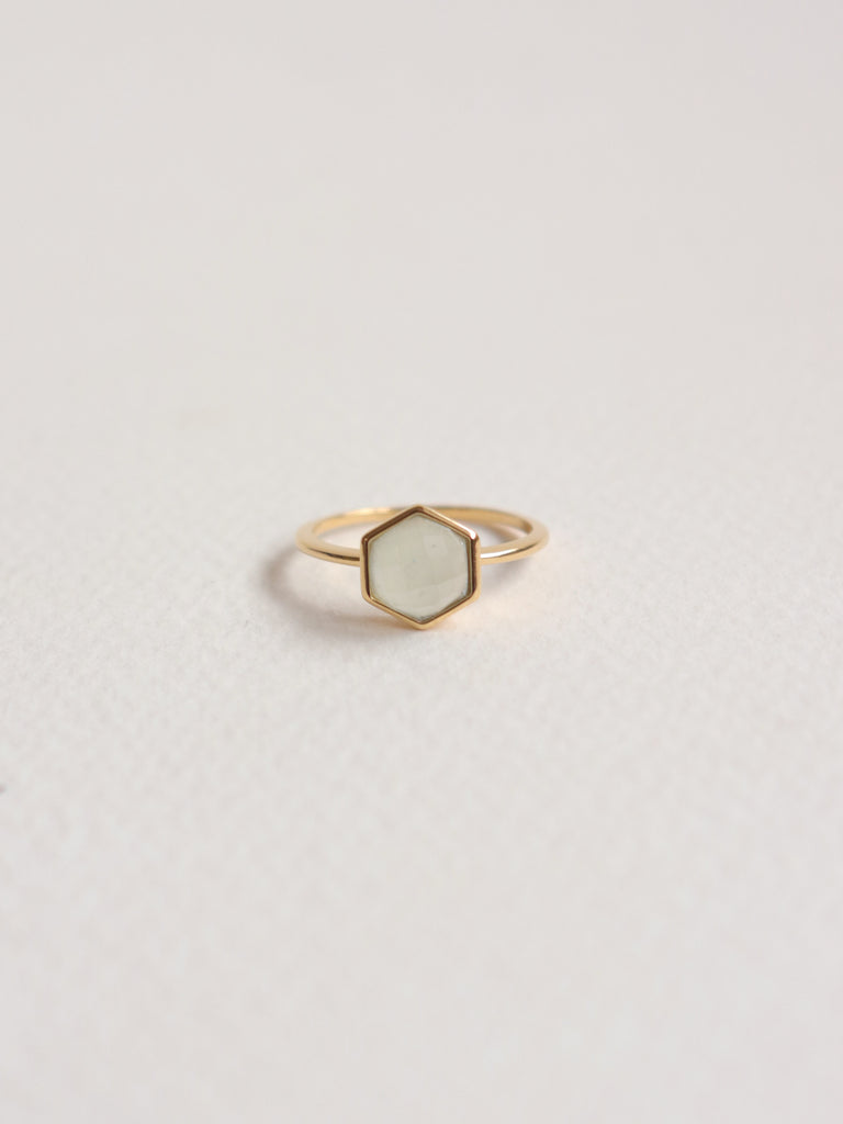 Fayth - Hexagon Chalcedony in Gold