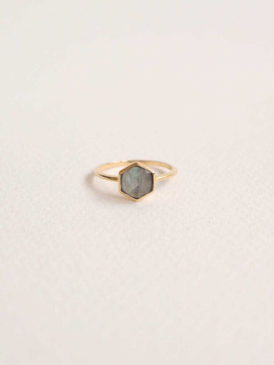 Fayth Ring - Labradorite (Gold)
