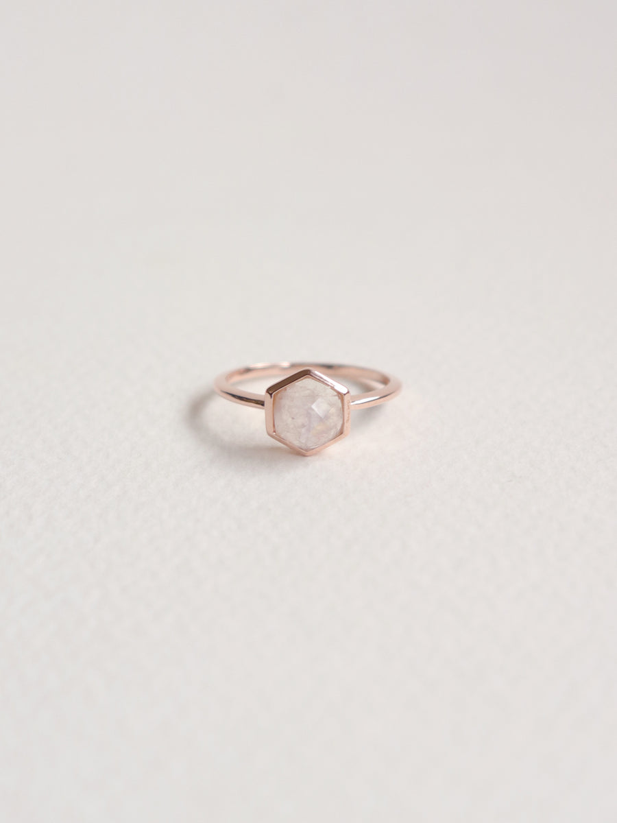 Fayth Ring - Moonstone (Rose Gold)
