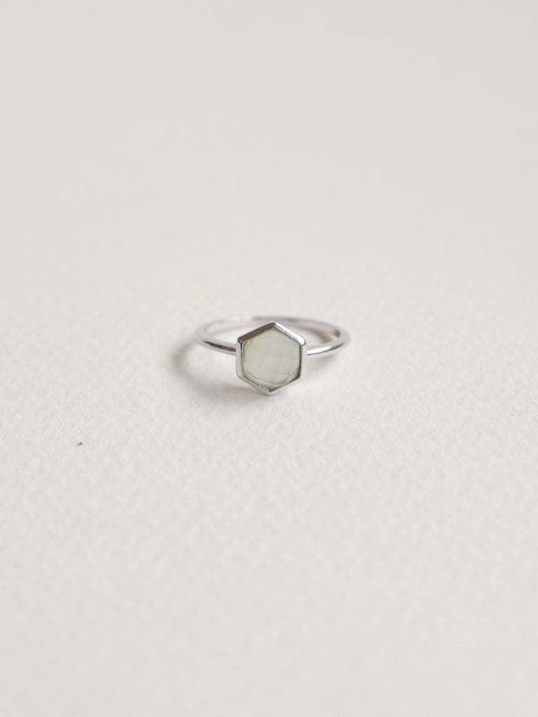 Fayth - Hexagon Chalcedony in Silver