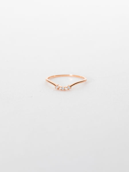 Heidi Ring - White Topaz in Rose Gold