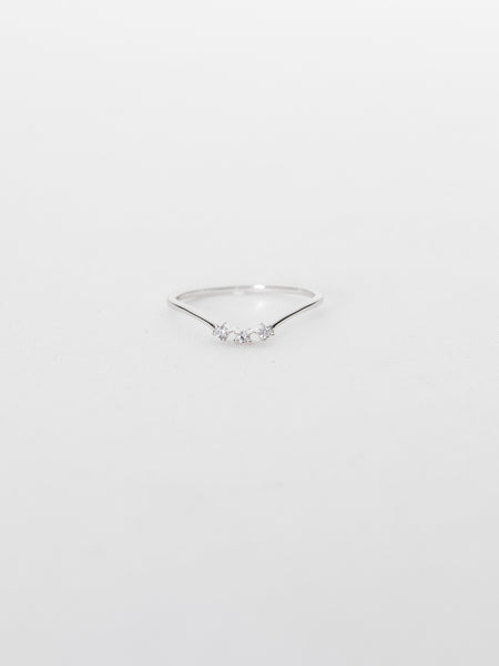 Heidi Ring - White Topaz in Rhodium
