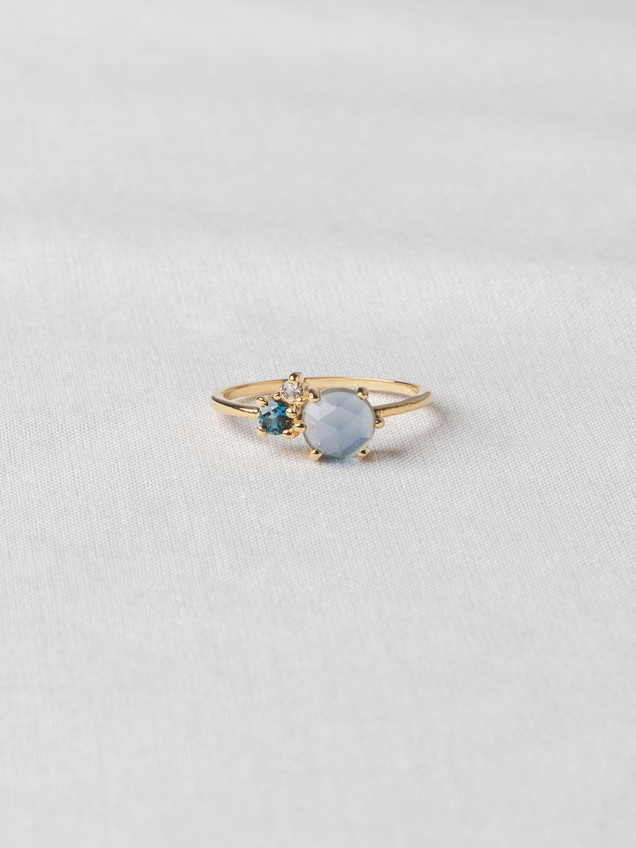 Jayne Ring - Blue Chalcedony (Gold)