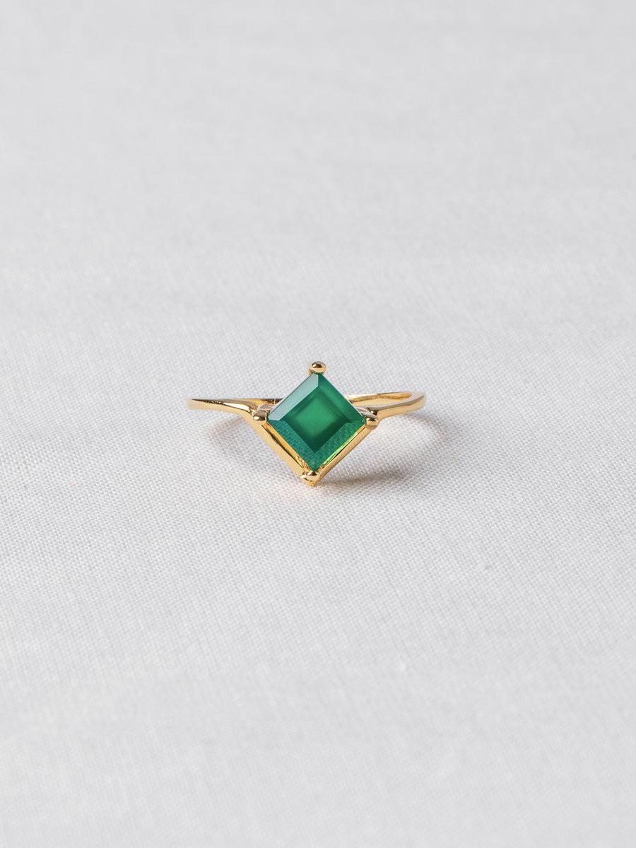 Jeri Ring - Green Onyx (Gold)