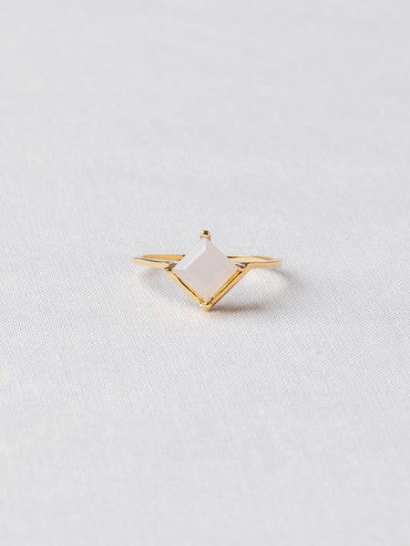 Jeri Ring - Moonstone on Gold