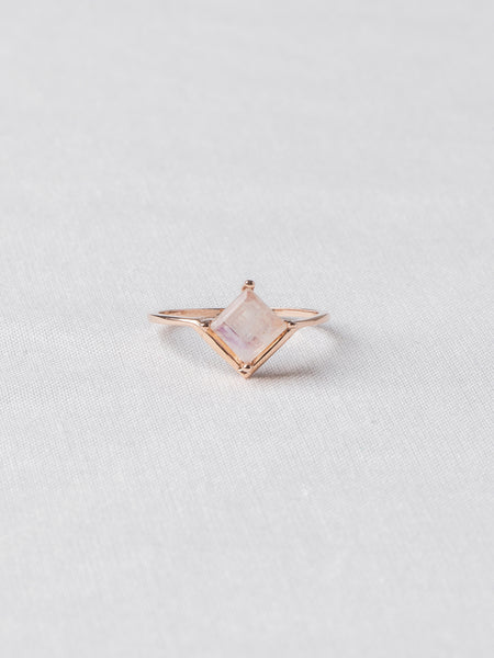 Jeri Ring - Moonstone on Rose Gold