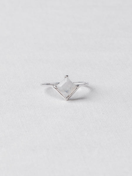 Jeri Ring - Moonstone on Silver