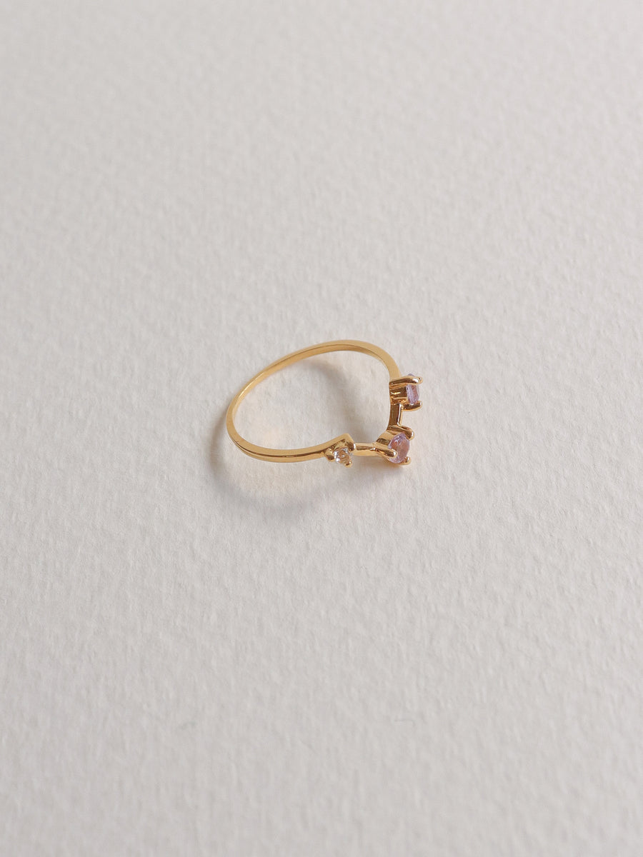 Joelle Ring - Pink Amethyst (Gold)