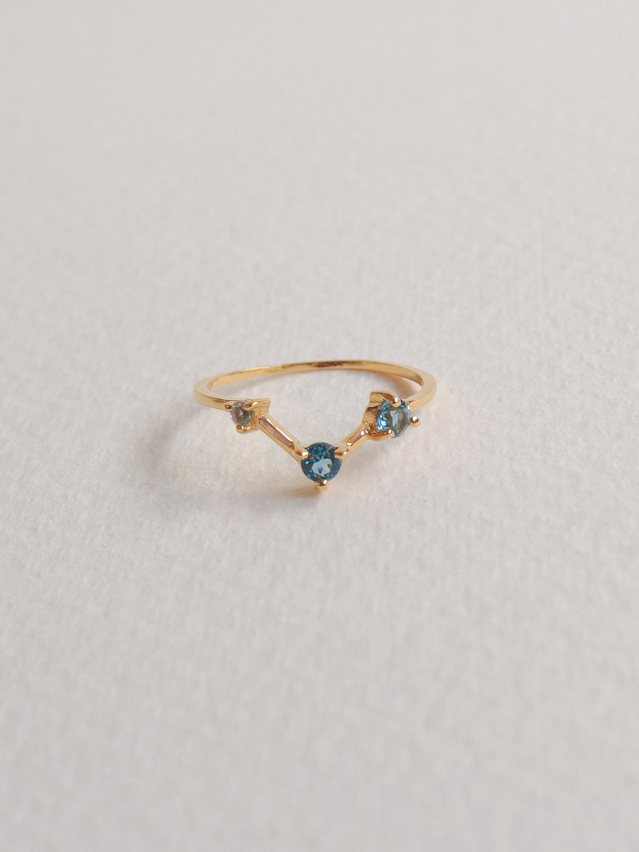 Joelle Ring - London Blue Topaz (Gold)