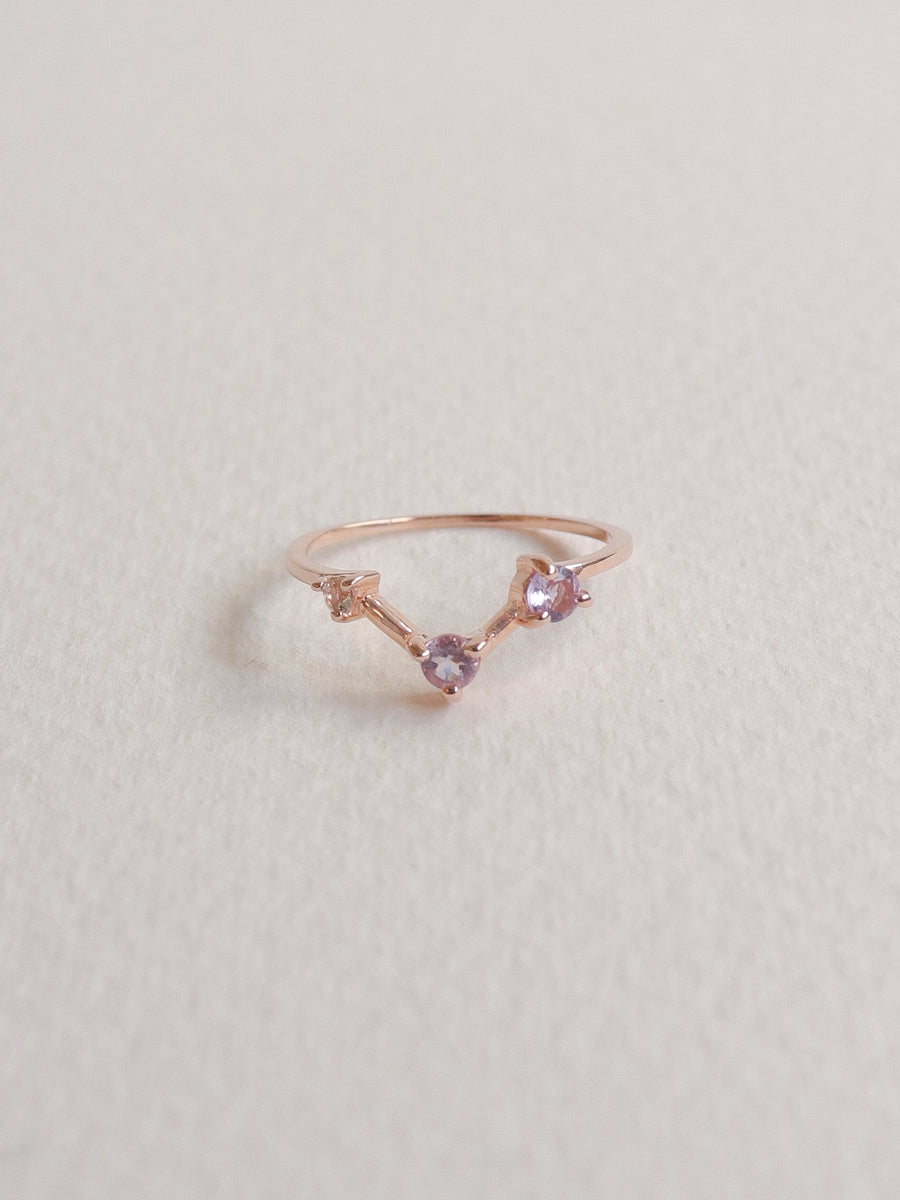 Joelle Ring - Pink Amethyst (Rose Gold)