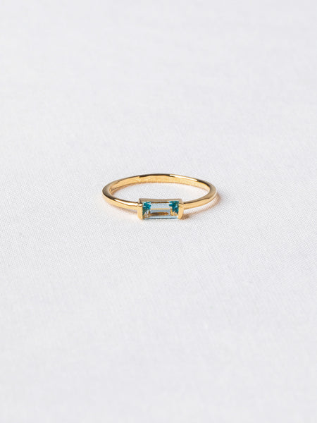 Joni Ring - Sky Blue Topaz on Gold