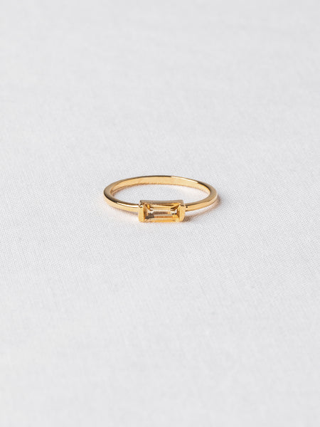 Joni Ring - Citrine on Gold