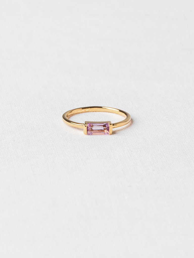 Joni Ring - Pink Amethyst on Gold