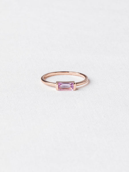 Joni Ring - Pink Amethyst on Rose Gold