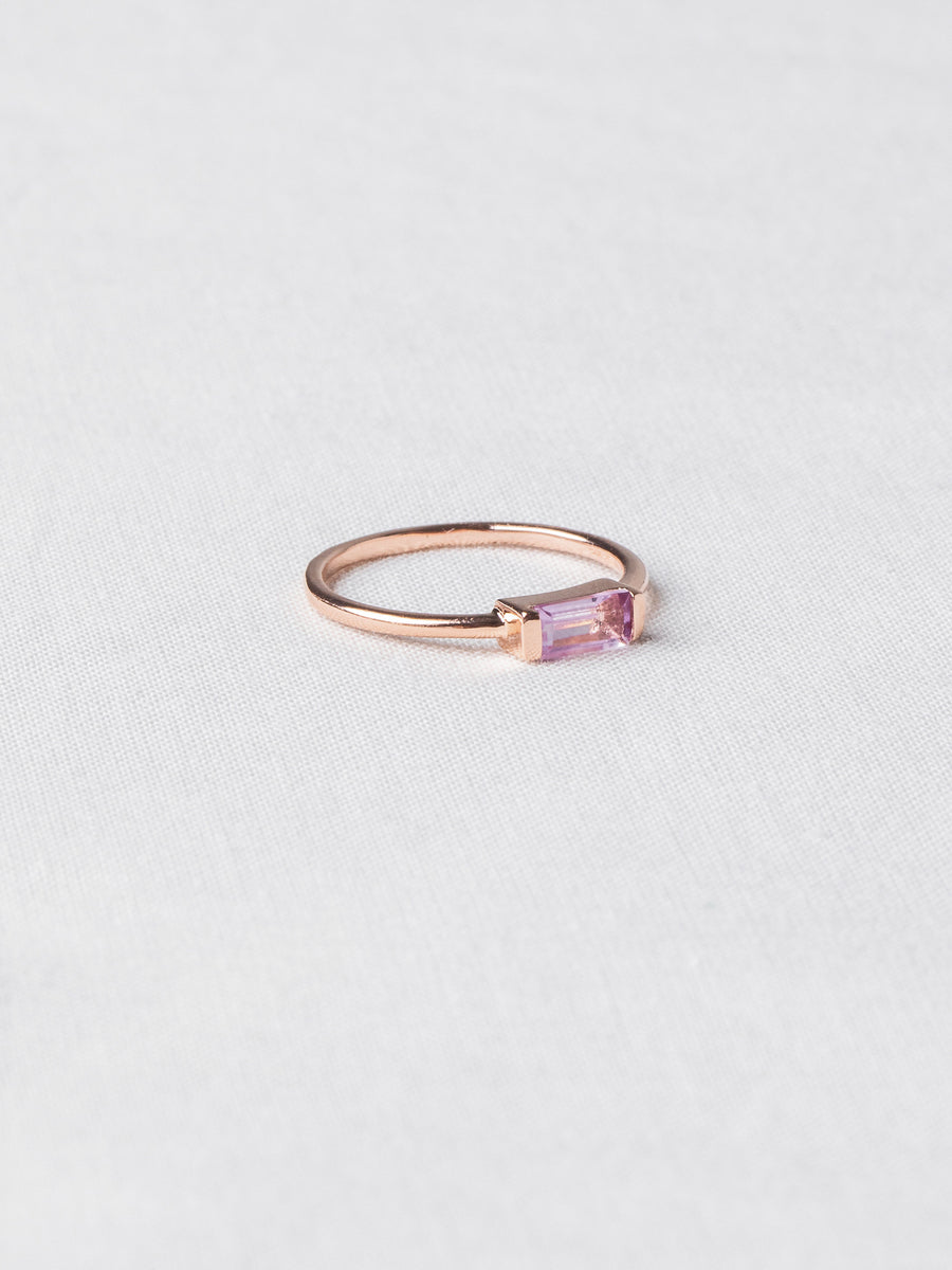 Joni Ring - Pink Amethyst (Rose Gold)