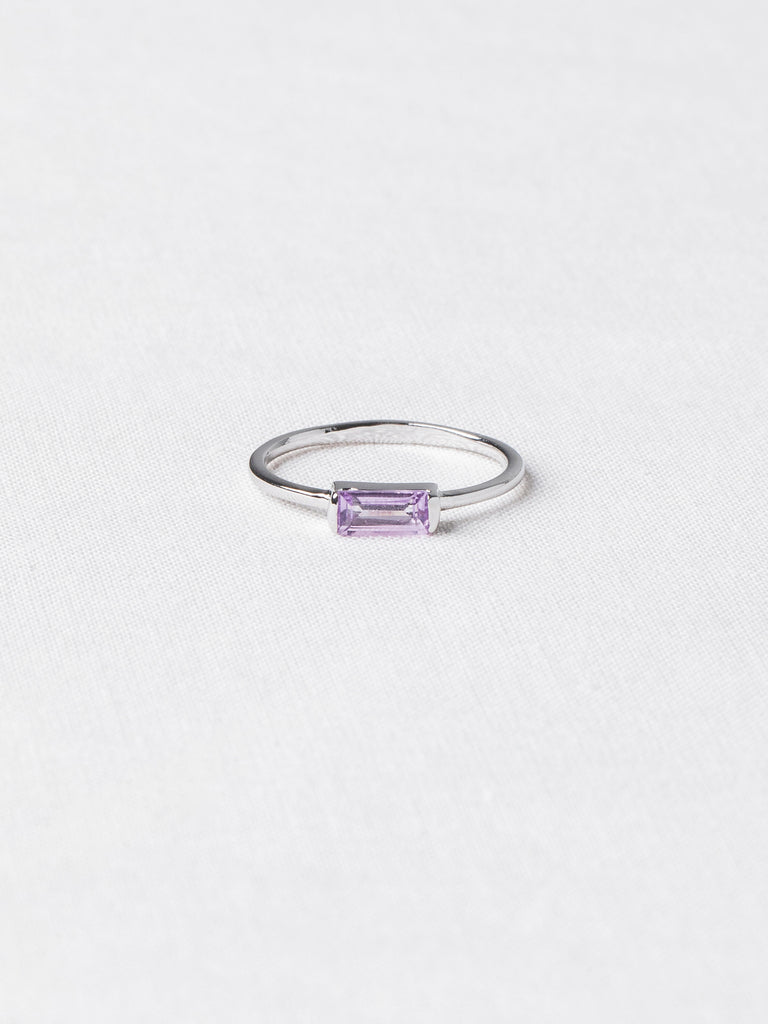 Joni Ring - Pink Amethyst on Silver