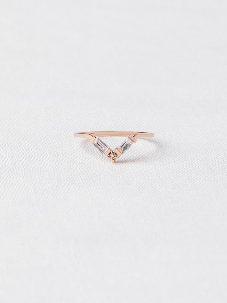 Juliette Ring - White Topaz in Rose Gold