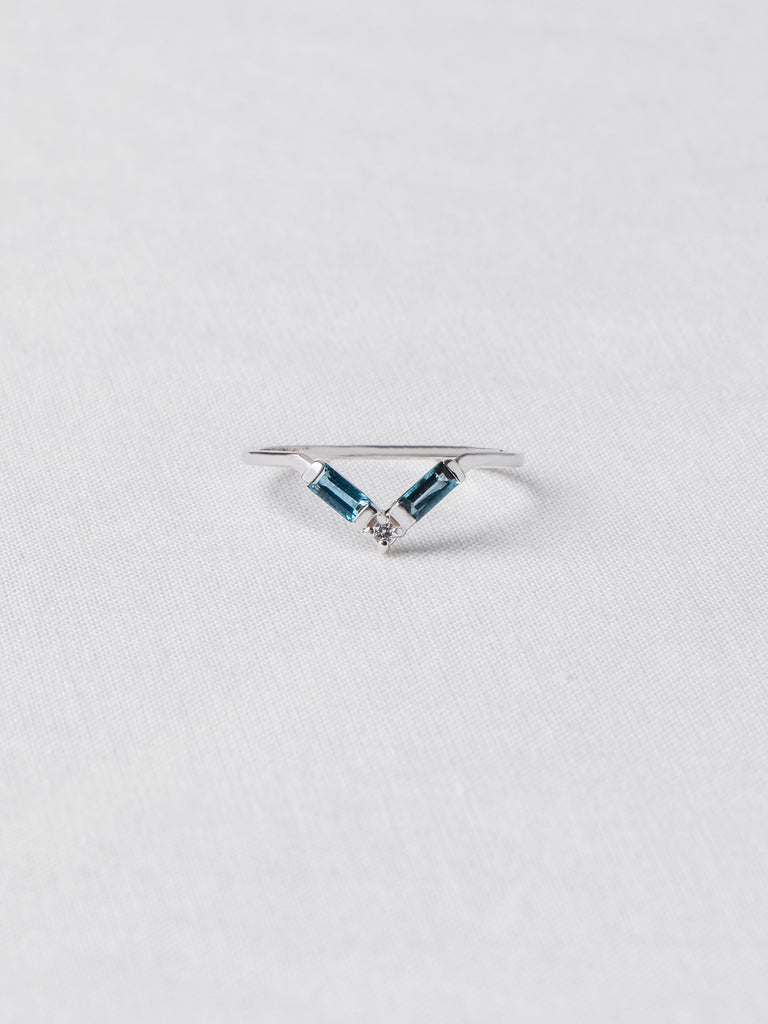 Juliette Ring - London Blue Topaz and White Topaz in Silver