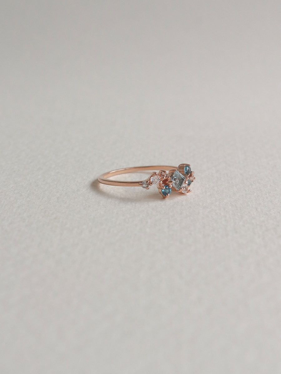 Kara Ring - Sky Blue Topaz (Rose Gold)