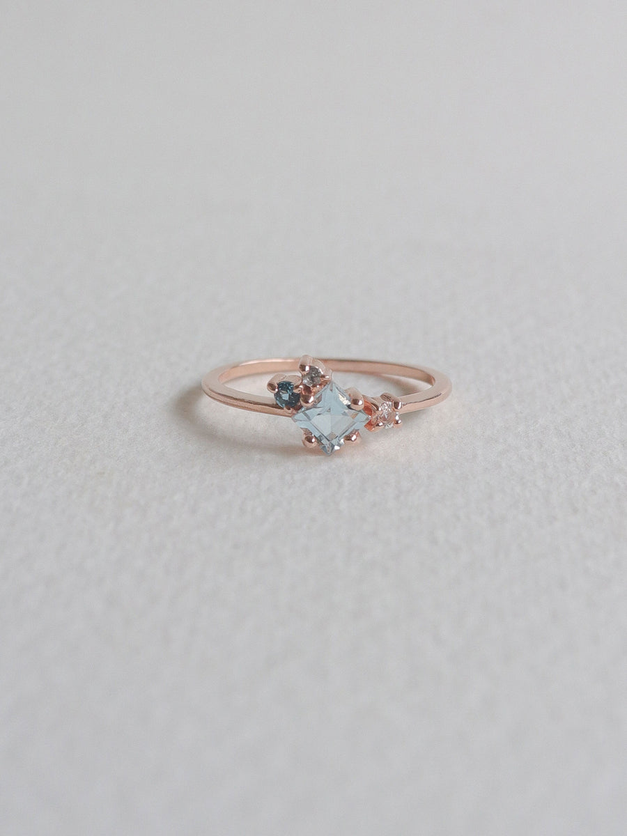 Kathryn Ring - Sky Blue Topaz (Rose Gold)