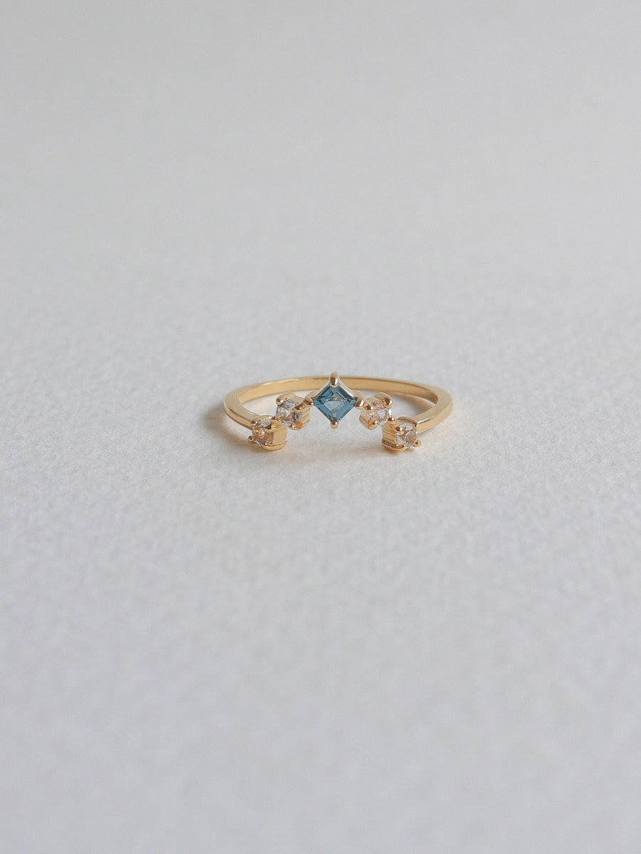 Katie Ring - London Blue Topaz (Gold)