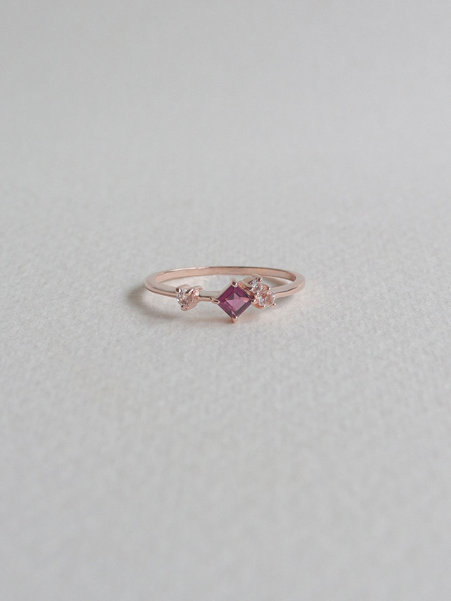 Kendra Ring - Rhodolite (Rose Gold)