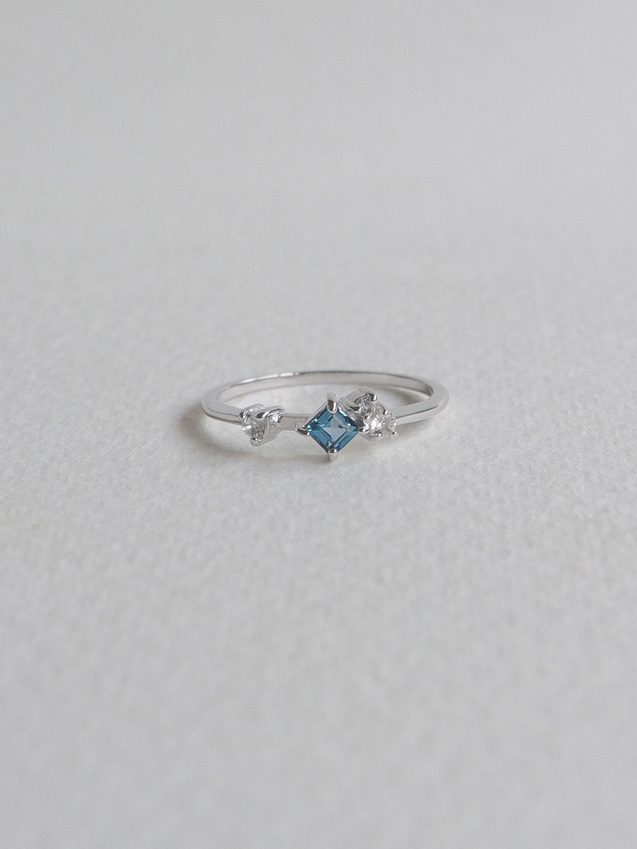 Kendra Ring - London Blue Topaz (Silver)