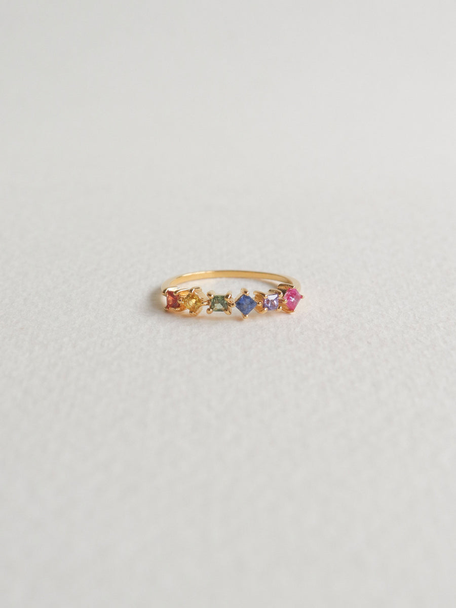 Konfetti Ring - Multi Colored Sapphire and Ruby (Gold)