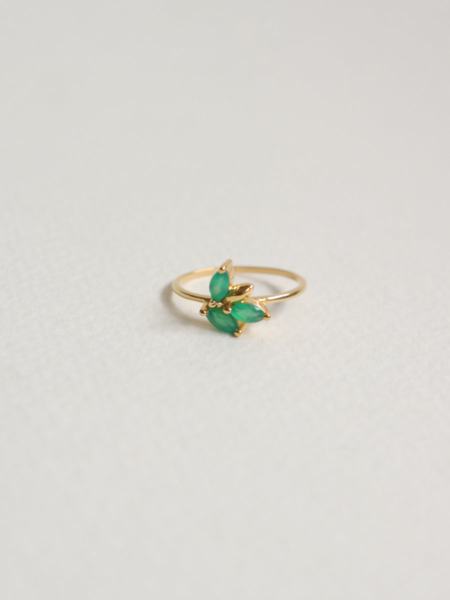 Laura Ring - Green Onyx (Gold)