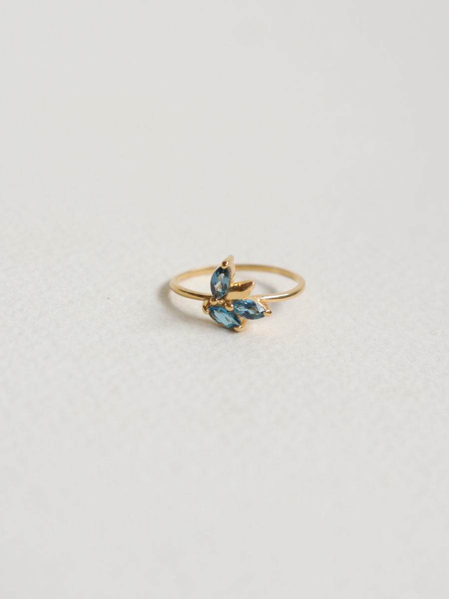 Laura Ring - London Blue Topaz (Gold)