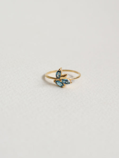 Laura - London Blue Topaz Marquise in Gold