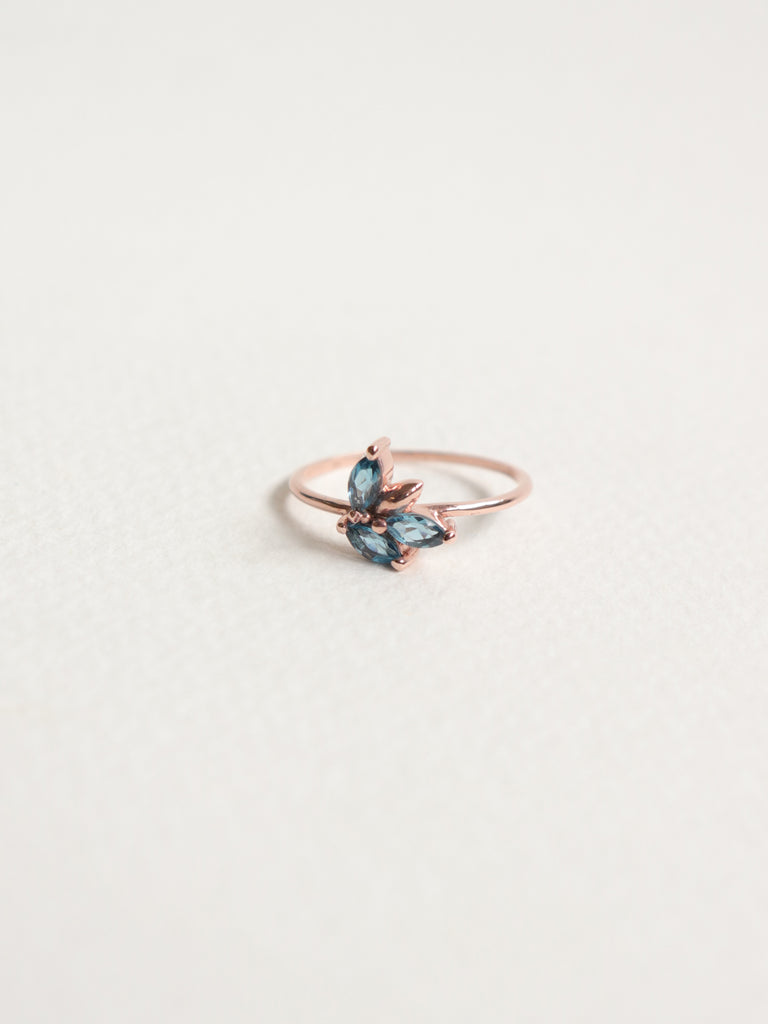 Laura - London Blue Topaz Marquise in Rose Gold