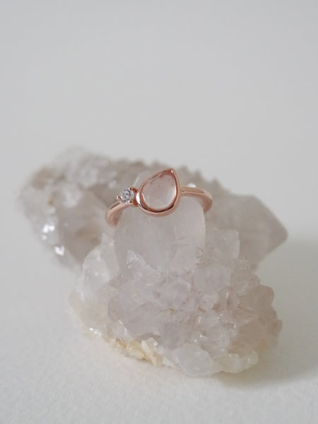 Reina - Rose Quartz on Rose Gold