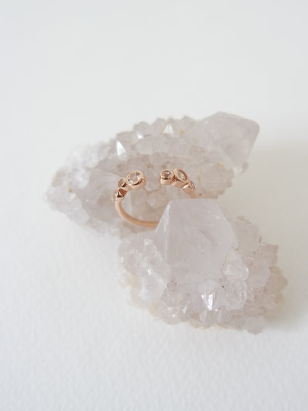 Sierra - White Topaz on Rose Gold