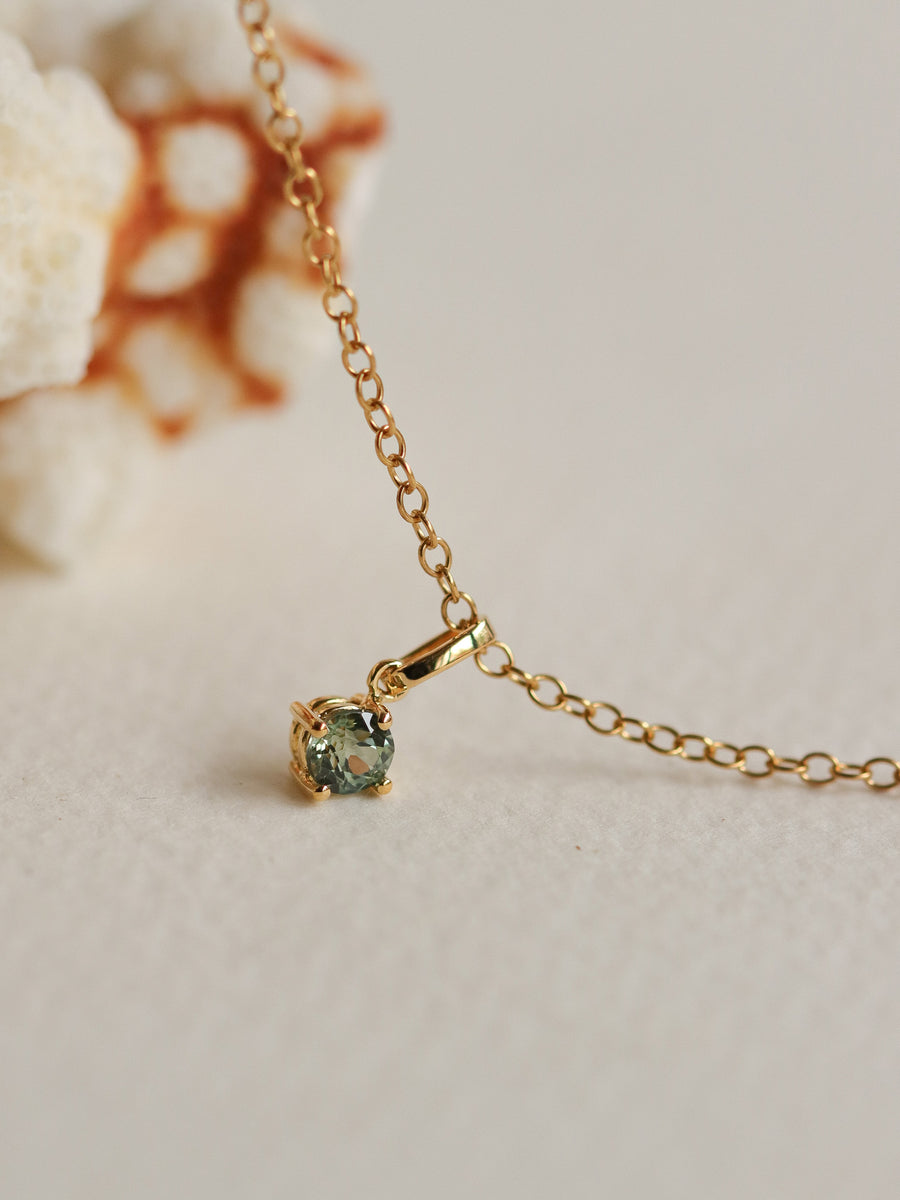 Charmed - One-of-a-Kind Pendant - Parti Sapphire in 18k Gold