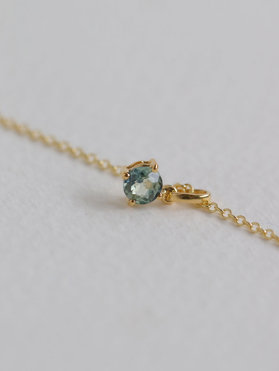 Charmed - One-of-a-Kind Pendant - Mint Parti Sapphire in 18k Gold