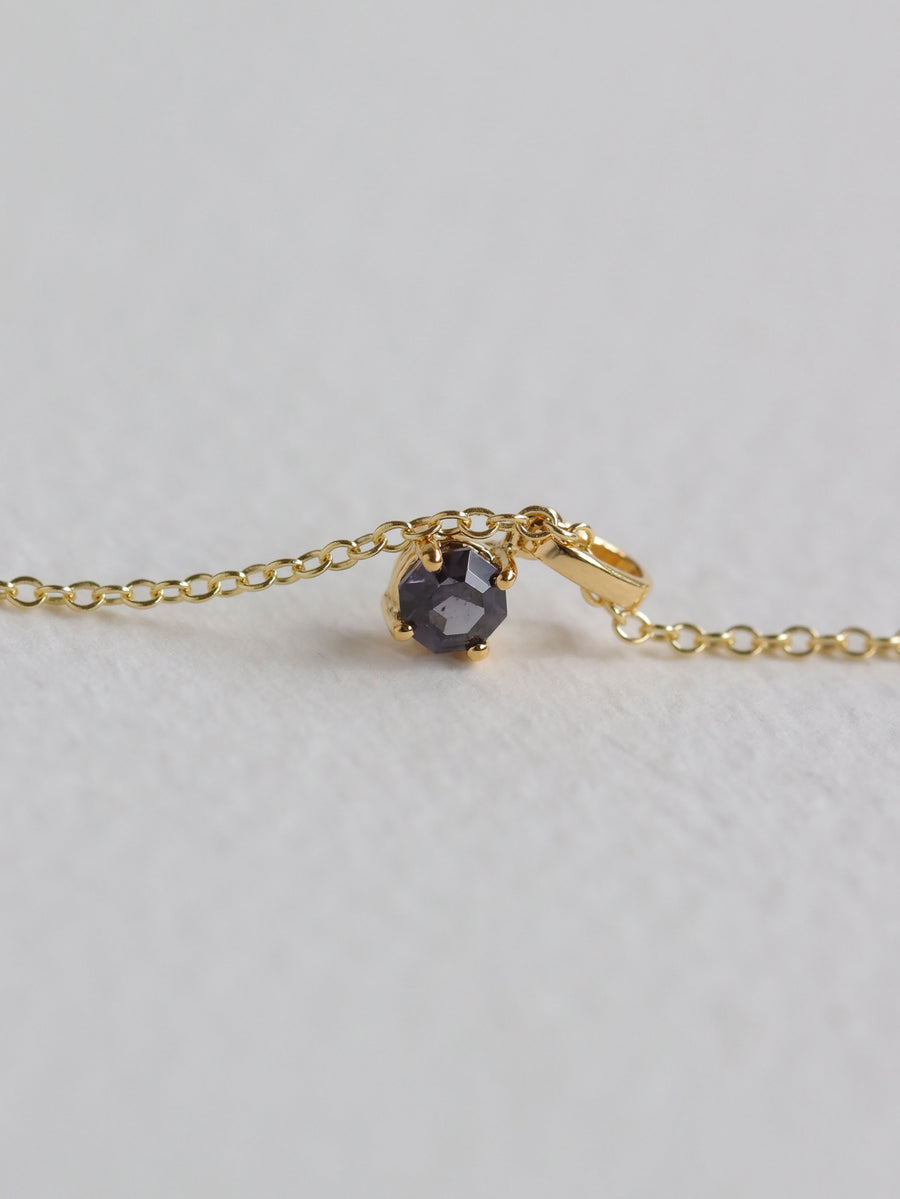 Charmed - One-of-a-Kind Pendant - Grape Spinel in 18k Gold