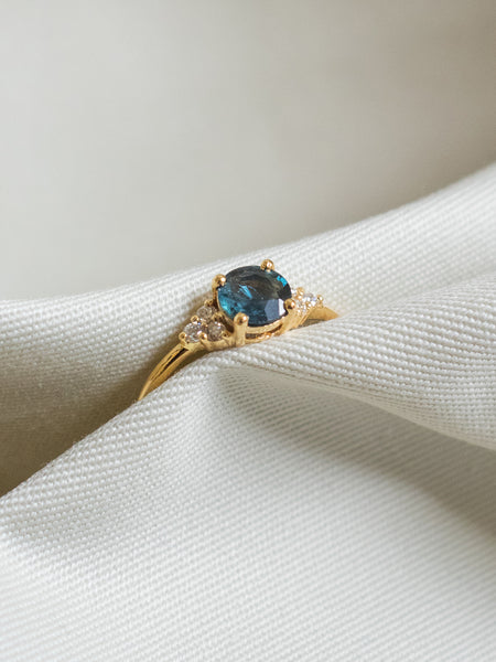 One-of-a-kind Companion Ring - Parti Sapphire and Diamonds in 18k Gold
