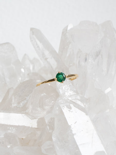 Compass Ring - Emerald in 18k Gold